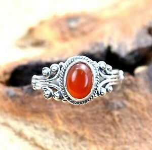 Carnelian gemstone Ring Solid 925 Sterling Silver Spinner Ring Handmade Ring