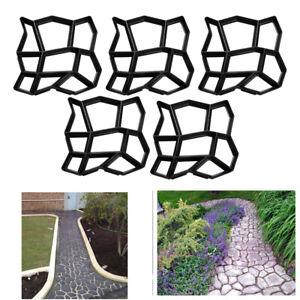 5X DIY Pflasterform Betonpflaster Gehweg Gießform Schablone Garten Schalungsform
