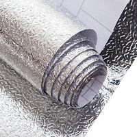 New Silver Foil Wall Sticker Tile Kitchen Bathroom Self-adhesive Film 40 X 200CM