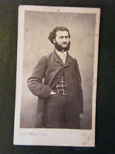 Photography Man for beard 19TH th Century Photo Afred Perlat Signed