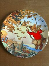 Superb Rupert Bear plate by Wedgwood, Express Newspaper,  mint condition