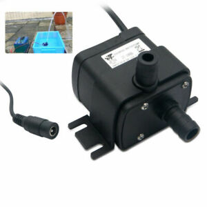 Water 12V 3M Brushless Motor 350L/H DC Small 5W Pond Pump Submersible Fish UK