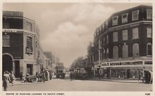 London Real Photo Postcard. Center of Romford, South St. Havering. Buses! 1949