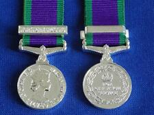 GENERAL SERVICE MINIATURE MEDAL WITH NORTHERN IRELAND CLASP ( GSM, CSM )