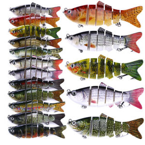 Multi Jointed Swimbait Crankbait Bass Minnow Fishing Lures Lot Muskie Saltwater