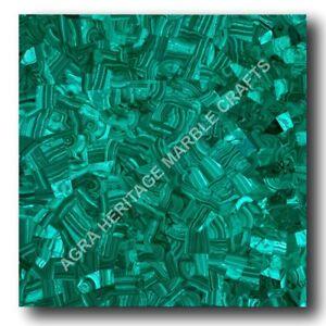 Green Marble Coffee Side Top Table Malachite Inlay Random Stone Home Decor E1336