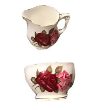More details for queen anne milk jug & sugar bowl bone china england