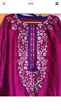Designer Pakistano Limelight Lime Luce Seta Kurta-medium-nuova con etichetta