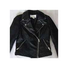 Bar Iii Geneva Moto Black Silver Stud Coat Jacket Size Medium
