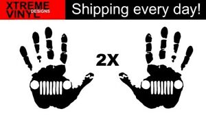 "2x Toyota Jeep Hands Vinyl Decal Stickers (One ""left"" and One ""right"")"