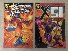 Wizard Magazine Comics #0 Captain Marvel and X-51 Lot of 2 Marvel Comic Books