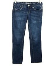 American Eagle Jeans 77 Straight 100% Cotton Dark Wash Womens 0 Regular 0 R