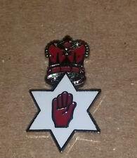 red hand in star crown enamel badge orange order loyalist northern ireland rfc