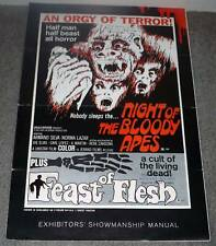 NIGHT OF THE BLOODY APES/FEAST OF FLESH original 1970 HORROR pressbook