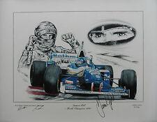 DAMON HILL Signed 15x19 Ltd Ed Canvas Print FORMULA 1 World Champion COA