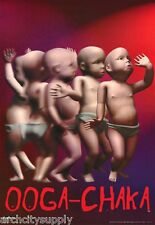 3 POSTERS: COMICAL: OOGA - CHAKA - BABIES DANCING - FREE SHIP  #3181    RAP23 A