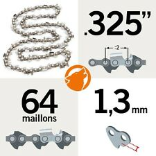 """Chaîne tronçonneuse KERWOOD 64 maillons 0.325"""", 1,3mm"""