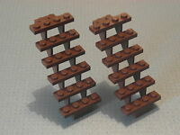 Lego - 2 Brown Stairs - 7 x 4 x 6 Studs (30134)