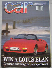 CAR 02/1990 featuring Lotus Elan SE, Nissan Skyline GT-R, Ford, Bentley,Vauxhall