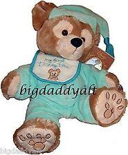 New MY FIRST DISNEY BEAR Green PJs Baby Bib Pre Duffy Teddy Brown Plush Toy Doll