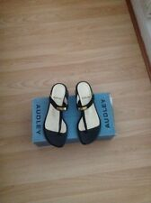 Audley black leather sandal size 4