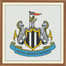 Football crest Cross Stitch Chart 12.0 x 12.0 inches.Magpies