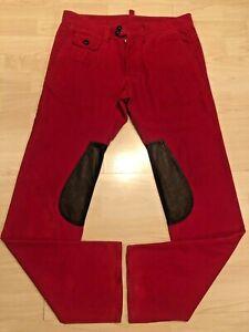 Dsquared2 Designer Cord Leder Hose Jeans Leather Pants Plein Rock Icon Caten