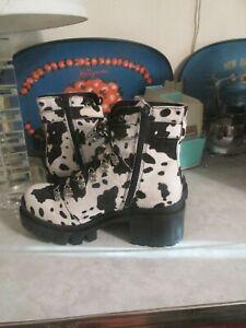 Jeffrey Campbell pony hair calf, cow print  Czech Boots -SZ 9 -$198 MSRP New