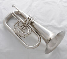 professional JINBAO Bb Marching Euphonium Horn Silver Nickel Finish With Case