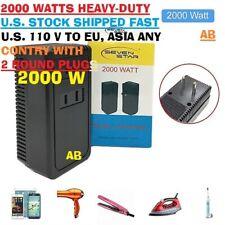 2000 Watt Travel Voltage Converter Power Adapter Step Down 220V TO 120V Europe