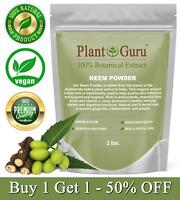 Neem Powder 2 lbs. Dried Leaf 100% Pure Raw Leaves (Azadirachta indica) Bulk