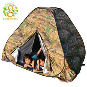 Portable Camouflage Pop Up Camping Hiking Automatic Instant Tent 3-4 Person Camo