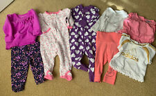 EUC Mixed Lot Baby Girl Clothes Size 3-6 Months. Carters, H &M, Hanna Anderson