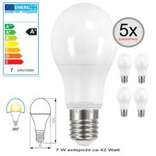 5 x E27 LED 7W (42W) Leuchtmittel LED Lampe A60 Glühbirne warmweiß SONDERPREIS