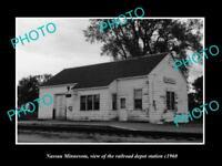 OLD LARGE HISTORIC PHOTO OF NASSAU MINNESOTA, THE RAILROAD STATION c1960