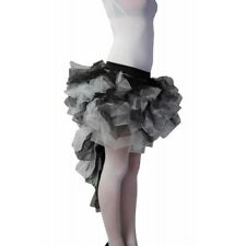 Ladies Black & White Long Tailed Burlesque Tutu Skirt Fancy Dress One Size
