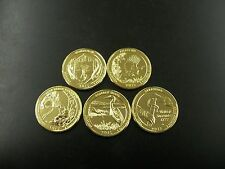 2015 Complete Set of National Parks 24kt. Gold Plated Quarters