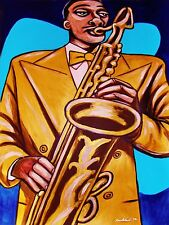 TEDDY EDWARDS PRINT poster blue saxophone mississippi lad sunset eyes jazz sax