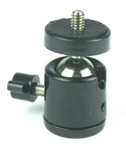 Mini Ball Head 1/4 in to 3/8 in  Tripod Adapter 360 deg Rotation Florida Store