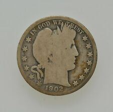1902-O U.S. Barber Liberty Head Half Dollar 50 Cent Type Coin New Orleans Mint