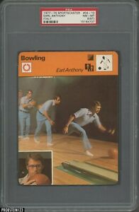 1977-79 Sportscaster Bowling #04-10 Earl Anthony Italy PSA 8 NM-MT (ST)