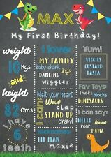 Dinosaur Baby First Birthday Board Milestones Chalkboard 1st Birthday Printable
