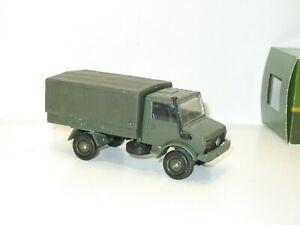 Solido Truck Military Mercedes Unimog Tarpaulin Khaki