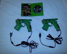 House of the Dead 3 Original Xbox + 2 Light Gun Lot Bundle Mad Catz Blaster SMG!