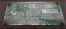 Ji Case Tool Box Antique Size C Threshing Machine Co Nameplate On Hinged Box