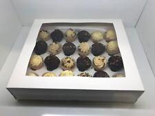 50 x White Mini Cupcake boxes for 24 & 50 x White Mini Cupcake boxes for 12