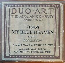 PAULINE ALPERT MY BLUE HEAVEN DUO-ART RECUT REPRODUCING PIANO ROLL