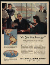 1944 PAN AM World Airways - Clipper Airplanes - South America - VINTAGE AD