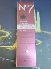 Boots No7 Restore and Renew Face & Neck Multi Action Serum 30 ml 1 Fl. Oz. NEW
