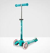 Microkickboard Mini Deluxe 3-Wheel Scooter with T-bar Handle, Aqua for 2-5 Years Kids